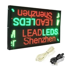 P10mm led module RGY 3color Outdoor New design outdoor double sided sign waterproof programmable and scrolling