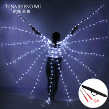 Belly Dance LED Isis Wings Colorful Stage Performance Props Dancing With Stick