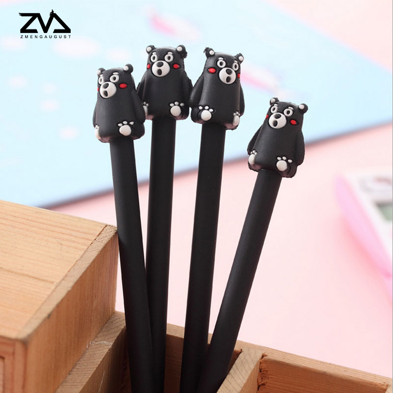 2 шт./лот Супер кумамото медведь мягкая резина 0.38 мм офис нейтральной ручка ручка школы специальные школьные принадлежности papelaria