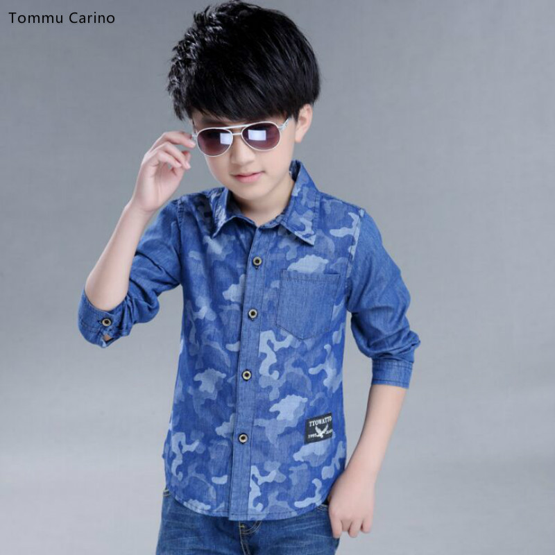 Kids Demin Shirts For Boys Long Sleeve Camouflage Boys Blouses 3 5 7 9 11  13 Years Spring & Autumn School Uniform Children Tees shirts for boys shirts  for kids boysspring shirts for boys - AliExpress