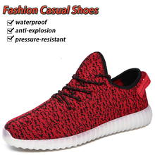 New Men Luminous Sneakers with USB Charging colorful Breathable Female Increasing Lighted Shoes Man LED Casual Shoes