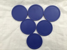 Free shipping 6pcs/lot blue Air hockey table pusher puck 82mm 3.25″ mallet GoalieS