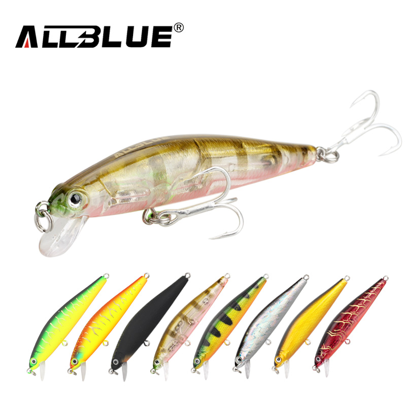 ALLBLUE 2017 Good Quality Fishing Lure Laser Minnow Wobbler Professional Baits 70mm/6.5g 8# Anti-rust Hook Crankbait Popper AB02 3pcs lot fishing lures mixed set minnow crankbaits topwater popper hook lure spinner baits crankbait bass wobbler tackle hook