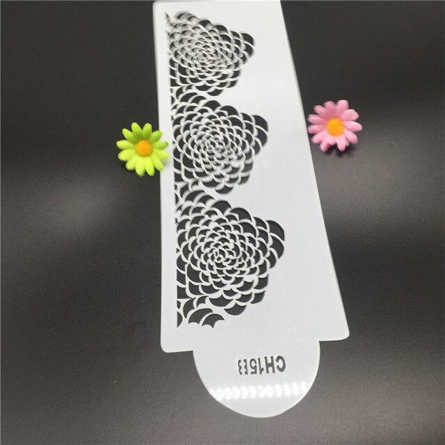Flower kuchen diy fondant schablone spray muster print design muster ...