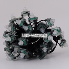 50Pcs Black Wire DC5V WS2811 with 3pin JST Dream Color RGB Strings Node LED Pixels Module Addressable IP68 Waterproof