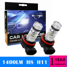 купить 2Pcs H8 H11 LED Lamp 100W 9006 HB4 Led Bulbs 9005 HB3 Car Fog Lights 12V-24V Daytime Running DRL Auto Led Light Bulb 6000K White дешево