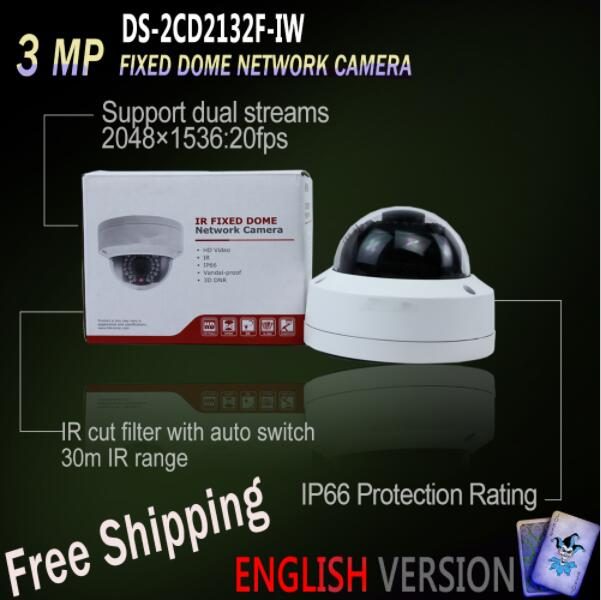 New English Oversea Version DS-2CD2135FWD-I IP housing 3MP Ultra-Low Light Dome IR Camera POE security midnight delight new extended version cd