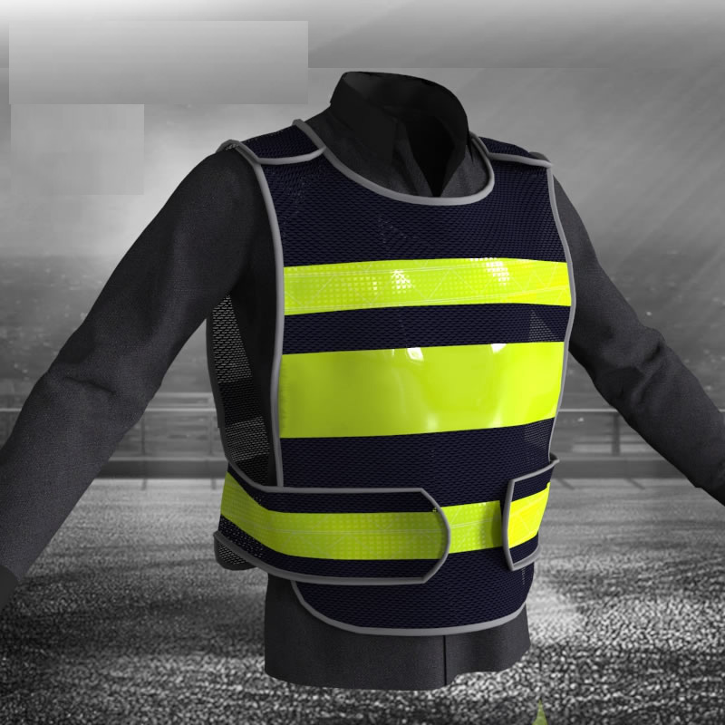 Workplace Safety Supplies Spardwear A Carton Of 100pcs Customizable Reflective Mesh Vest Free Logo Printing Waistcoat With Reflective Crystal Lattice Security & Protection