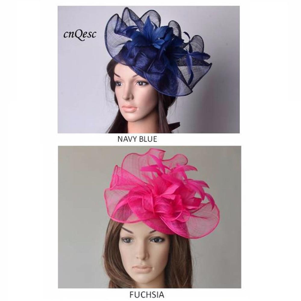 fascinators flower /& feathers on sinamay base /& headbands 3 colours