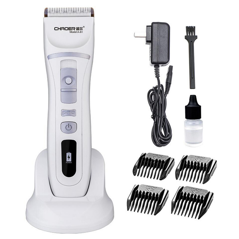 New Arrival Electric Hair Clipper Professional Rechargeable hairclipper Hair Trimmer for Men Baby Salon Tools 110-240V rechargeable hair clipper with accessories set 220 240v ac