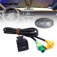 Vehemo Replacement Car Kit AUX Cable USB Switch Cable Black Universal Switch Cable Connecting Line For