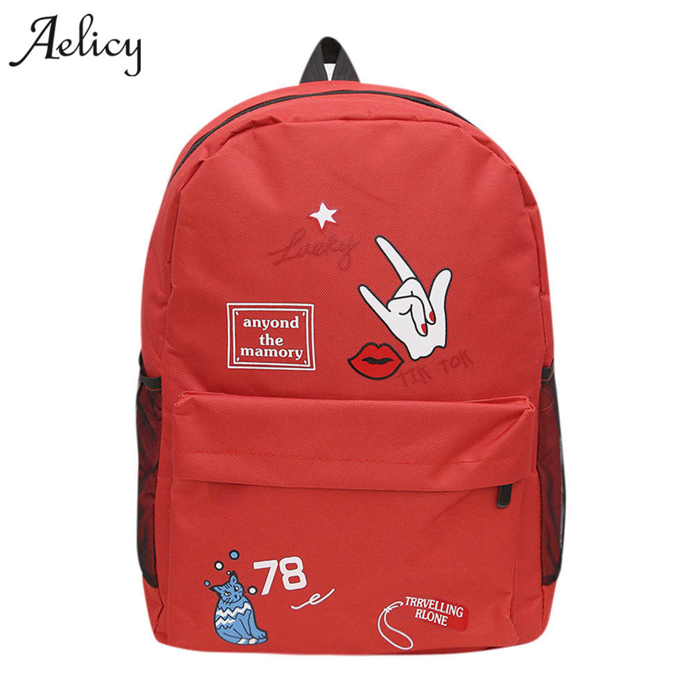 Aelicy Luxury Brand Women Preppy Letter Print Backpack Small High Quality School Bags For Teenagers women mochilas mujerAelicy Luxury Brand Women Preppy Letter Print Backpack Small High Quality School Bags For Teenagers women mochilas mujer