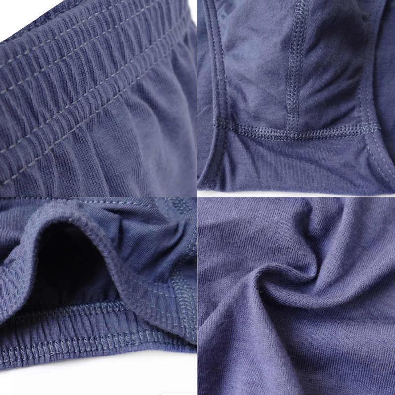 Venda quente plus size 5xl men briefs cor sólida algodão respirável sexy cueca masculina confortável calcinha briefs