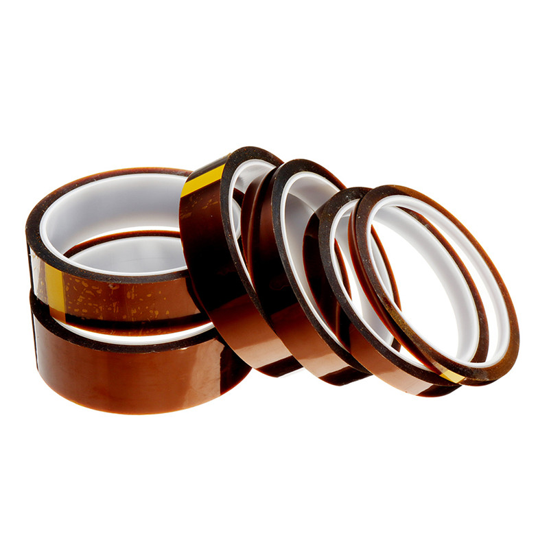 Length 30M Width 5/10/15/20/25/30mm Film Heat Resistant Polyimide Tape High Temperature Adhesive Insulation Kapton Electric Tape 18mm high temperature resistant kapton tape