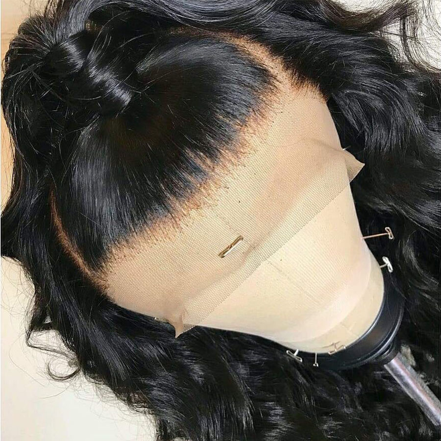 BEEOS Preplucked 13x6 Deep Parting Brazilian Remy Body Wave Lace Front Human Hair Wigs For Black