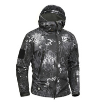 Mege Brand Python Pattern Camouflage Men Sharkskin Softshell Autum Hooies Jacket Military Clothing Jacket Tactical Army