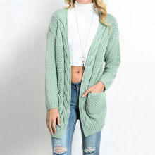 LOGAMI Long Cardigan Women Long Sleeve Knitted Sweater