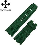 AP01 Luxury South American Green Alligator Hornback Leather Watch Strap 28/24mm Watchband