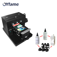 Multifunction UV printer 3D inkjet A4uv relief universal White Ink uv flatbed printer for Phone Case T shirt leather metal TPU