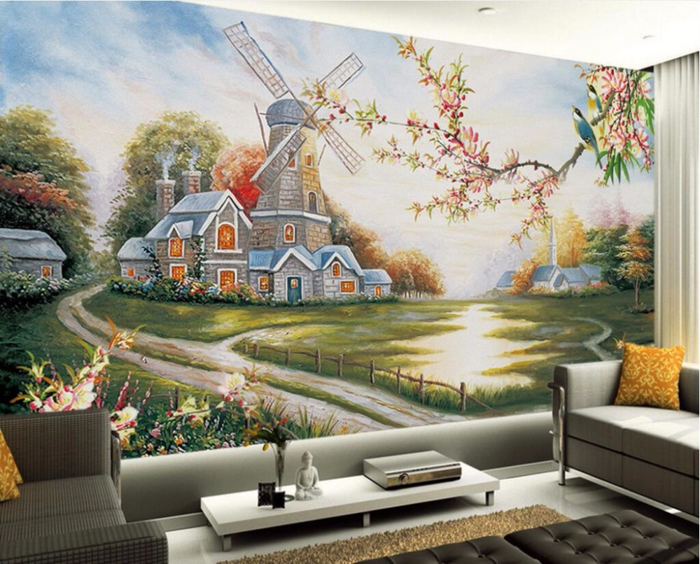 custom mural 3d room wallpaper rural house of flowers and