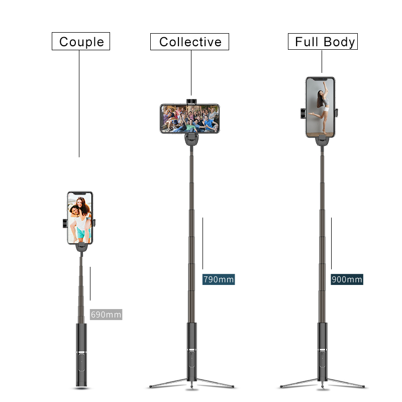 Tripod Selfie Stick For iPhone 11 Pro 2019 Samsung S10 Huawei Xiaomi Tripod Selfie Stick Wireless Bluetooth with Remote Control