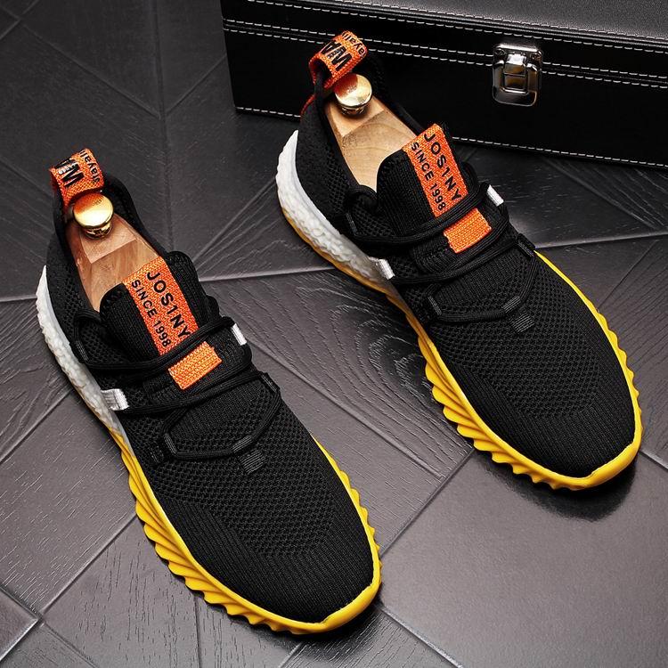 ERRFC projektant mody męskie biały buty w stylu casual brytyjski styl mężczyzna oddychająca siatka trendy buty rekreacyjne męskie biały Chaussure 43 w Męskie nieformalne buty od Buty na  Grupa 2