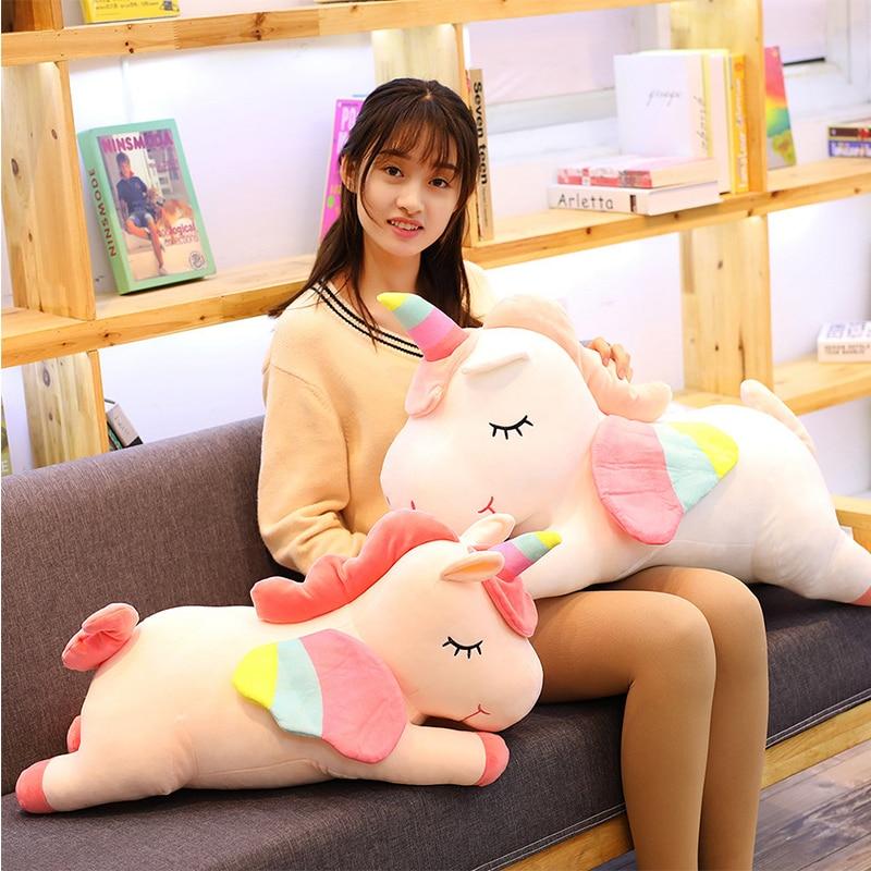 Western Myth Pusheen Big Plush Unicorn Toys Soft Stuffed Plush Doll Unicorn With Wings Soft Pillow Girl Birthday Gift Licorne
