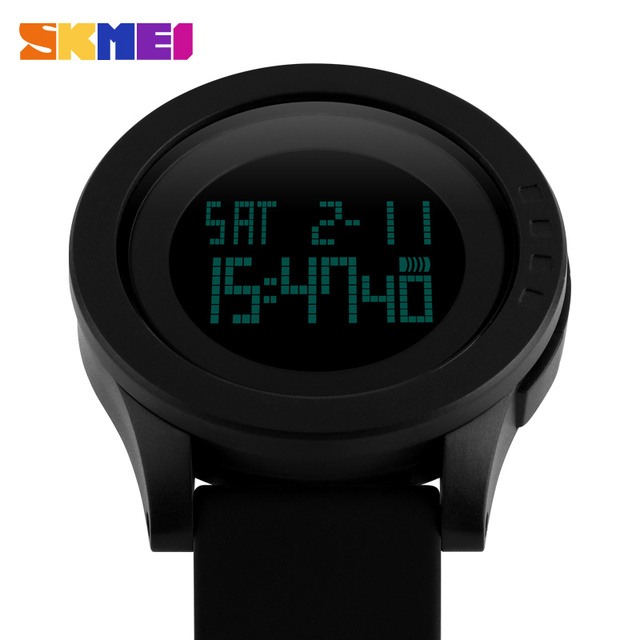 relojes hombre 2016 SKMEI Watch LED Silicone Strap Fashion Men Digital Sports Watch For Men Wristwatches Sport Waterproof Watch