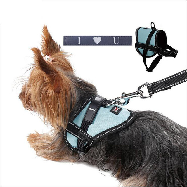Hot Sale Cat Small Dog Harness Brand Reflective Harness Vest Dog For Pet Cat & Dog Nylon Strap Anti-Explosion Training Collar