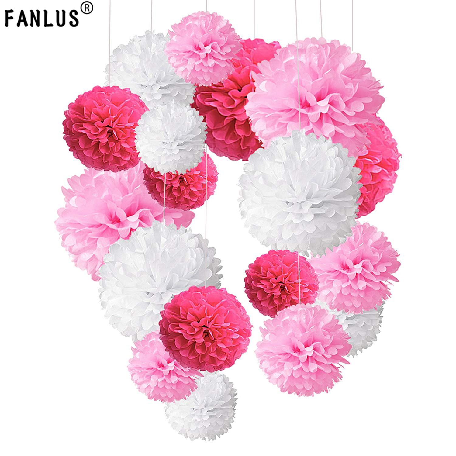 Best Price Fanlus 13cm Tissue Paper Pom Poms Paper Flower Ball For