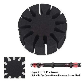 1 Uds tiro con arco flecha titular de espuma EVA ronda Rack 12 flechas separador de aljaba protección estante para Splitter arco caza tiro