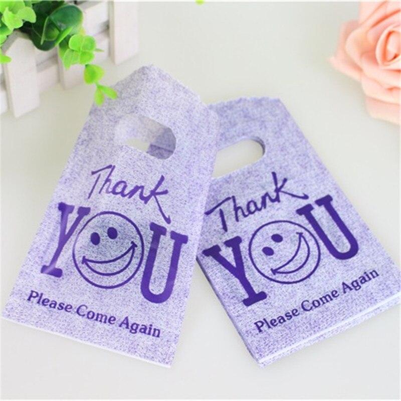 Новый дизайн, Лидер продаж, оптовая продажа, 50 шт./лот/, 9*15 см, фиолетовая мини-пластиковая упаковка для бутиков, маленькие пластиковые подарочные пакеты с благодарностью