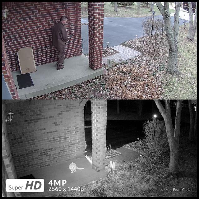 Reolink Camera WiFi 4MP Wireless IP Camera Outdoor 2.4G/5G HD IP Cam Bullet Surveillance Weatherproof Security Cam RLC-410W-4MP