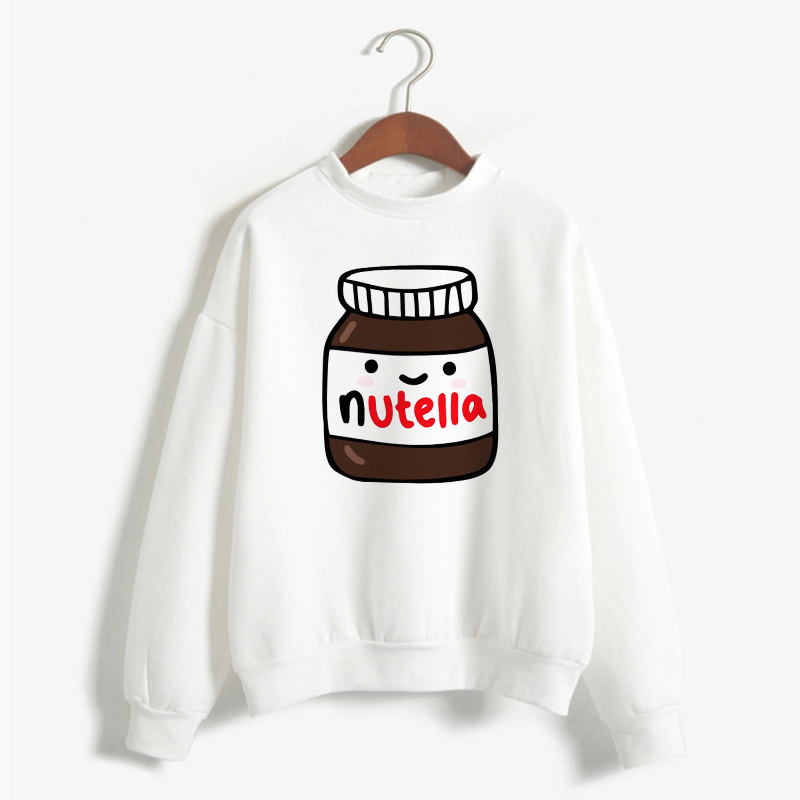 dd29917b9 Women'S Sweatshirt Funny Nutella Hoodies Harajuku Long Sleeve Korean  Fashion Pullover Hoodie Sudadera Mujer Women Clothes