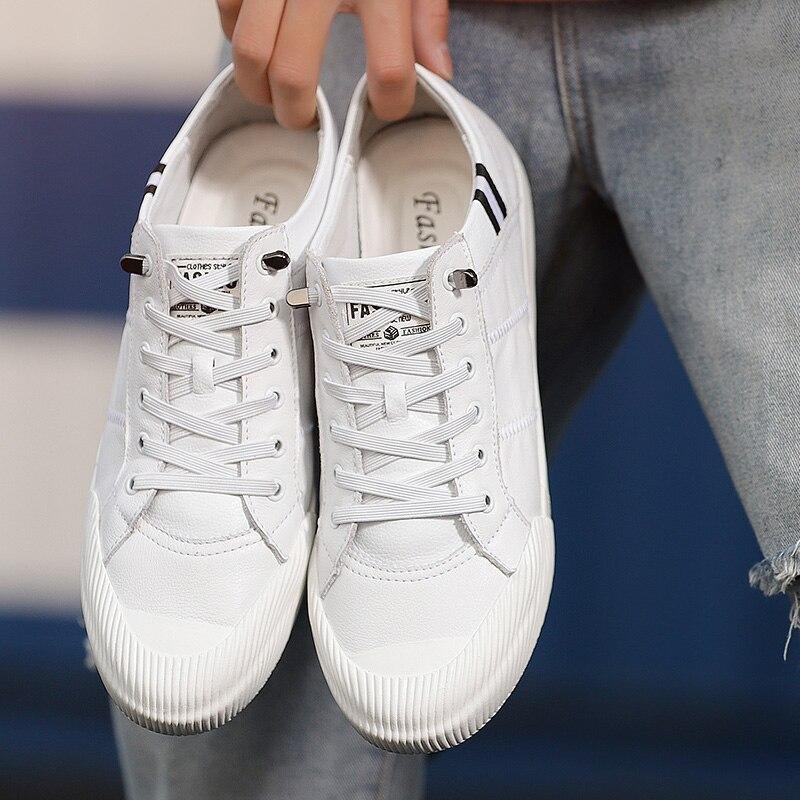 0ba9967f72 Preto Nova white Tenis De Respirável up 2019 Black Skate Pequenos Masculino  Casuais Brancos Homens Sneakers Lace Sapatos ...