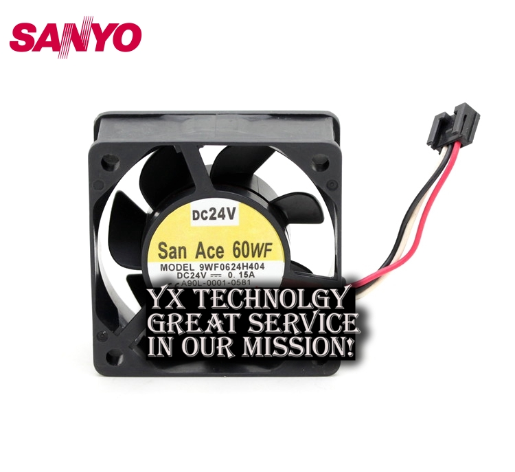 все цены на  SANYO  New and original waterproof 9WF0624H404 6025 24V 0.15A fan for  60*60*25mm  онлайн
