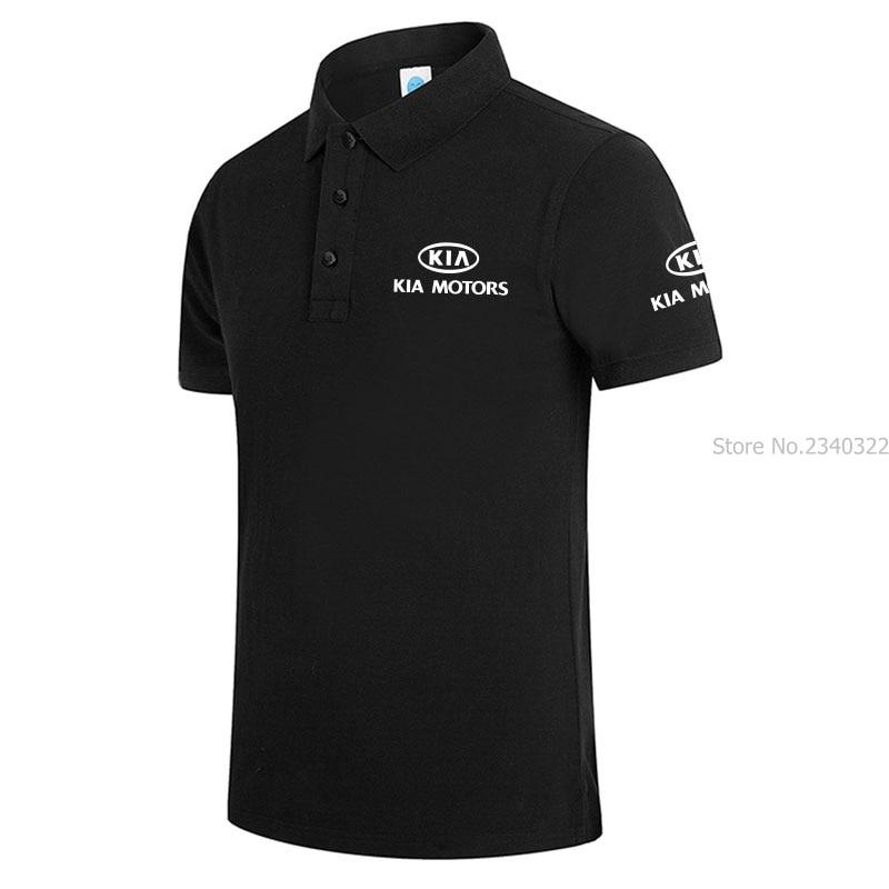 100% Wahr Neue Männer Polo Sommer Männer Kurzarm Baumwolle Kia Polos Shirts Mit Einfarbig Tops