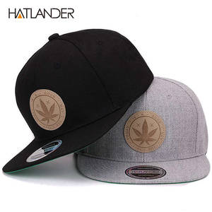 Mens Caps Gorras Baseball-Cap Hip-Hop-Cap HATLANDER Flat-Brim Bone Hats Cotton Women's
