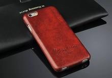 جراب ذو قلّاب عمودي من الجلد الأصلي لهواتف Apple iPhone 6 6S حافظة ذات علامة تجارية أصلية مع واقي شاشة للهدايا