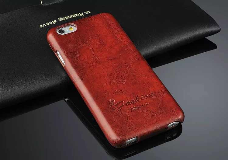 Genuine Leather Vertical Flip Cover Case for Apple iPhone 6 6S Fashion Coque Brand Original Fundas with Gift Screen Protector