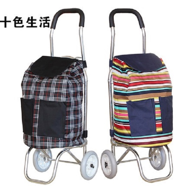 Aluminum folding shopping cart Bortable shopping cart Two wheeled trolley Trolley Luggage Trailer ...