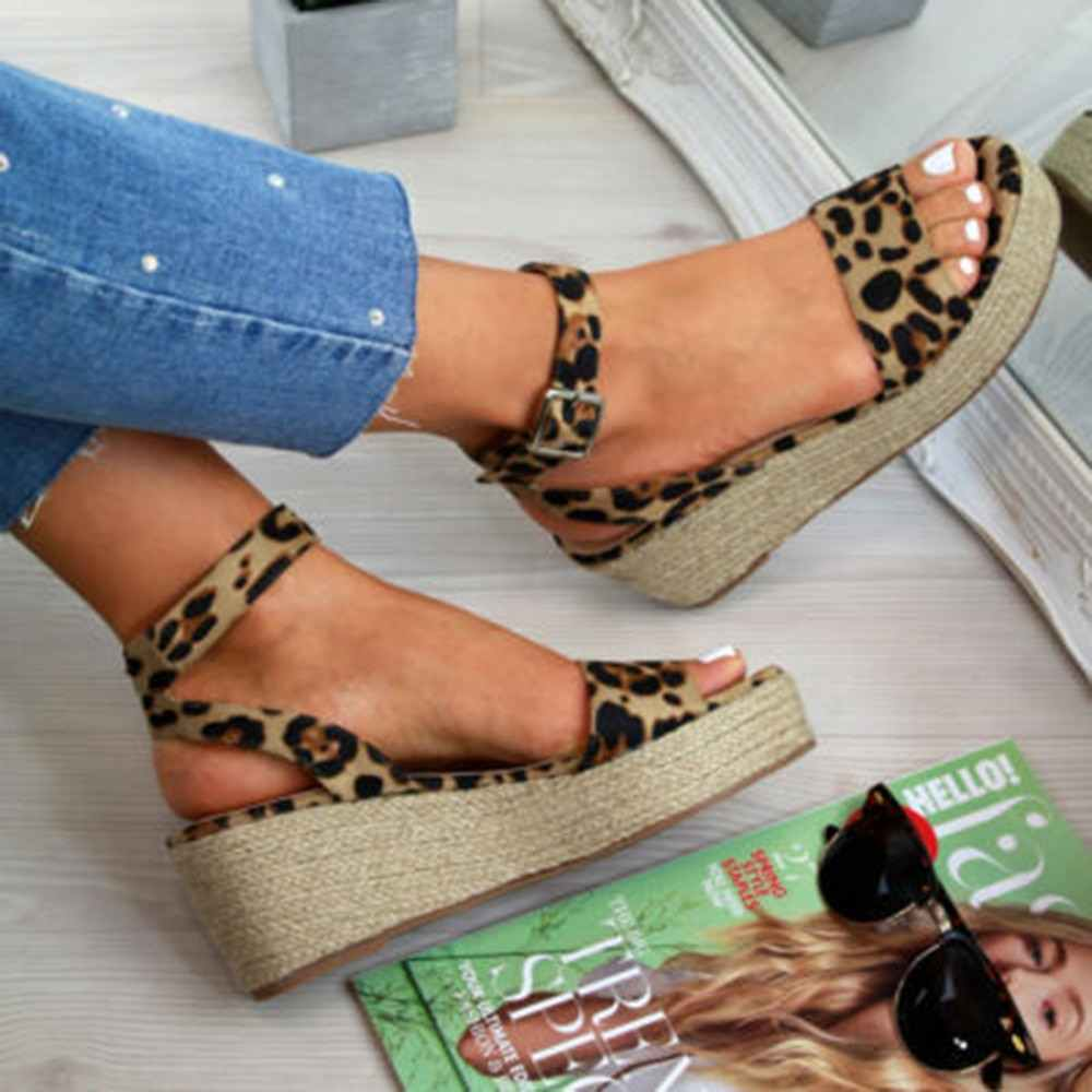 HEFLASHOR Summer Shoes Platform Sandals 2019 Fashion Women Strap Sandal Wedges Shoes Casual Woman Peep Toe Espadrille Femme