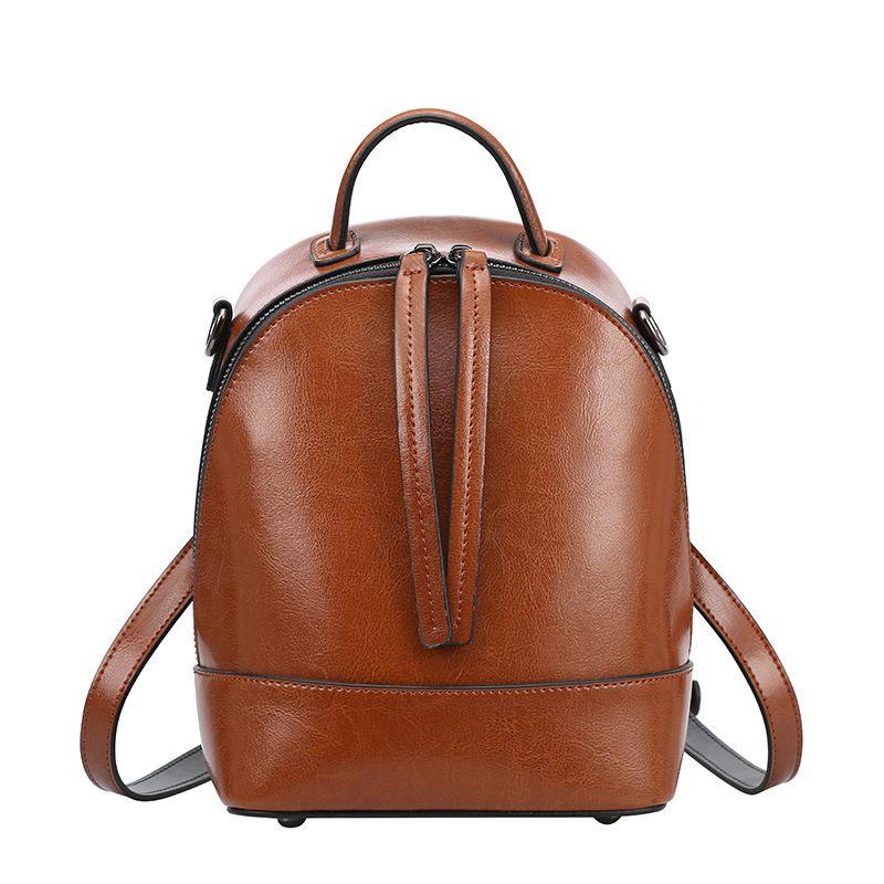 Famous Brand Designer Preppy Style Women Small Little Genuine Leather 2018 Backpack Double Zipper Female School Bags For Girls designer bags famous brand women bags 2016 small rivets backpack tide female school bags for teenage girls mini backpack