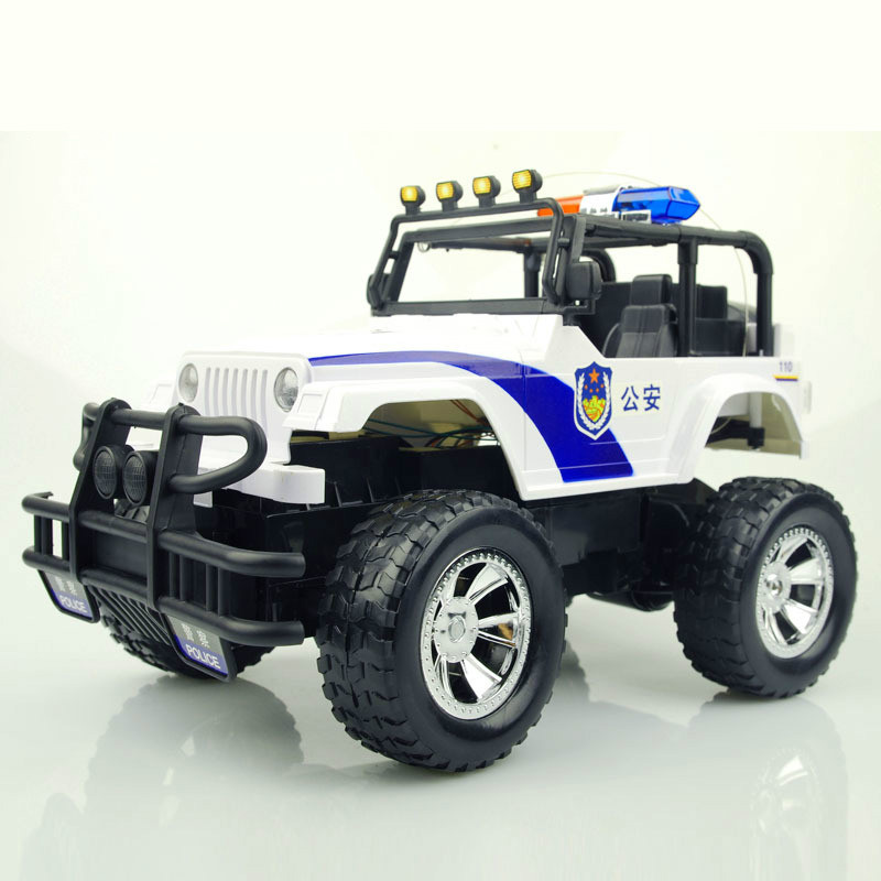 1:12 High-quality RC Police Model Car 4WD Off-Road Vehicle with Siren Sound Lighting Effects Charging Toys Childrens Toy Gifts