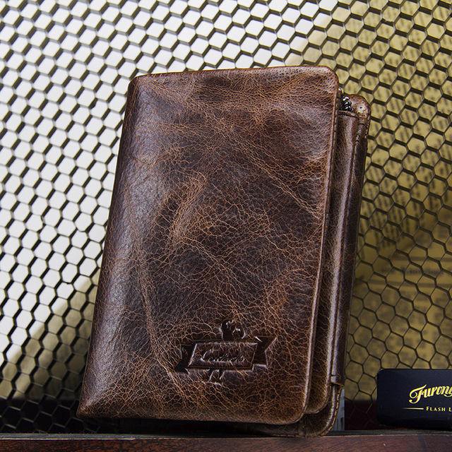 genuine leather men wallet with coin pocket vintage hasp mens wallets with card holder luxury brand short zip coin purse for men 4