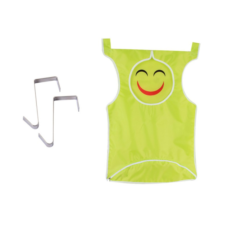 Smiley Laundry Bag Extra Large Wall Mounted Laundry Organizer Bag with Stainless Steel and Suction Cup Hook Laundry Storage