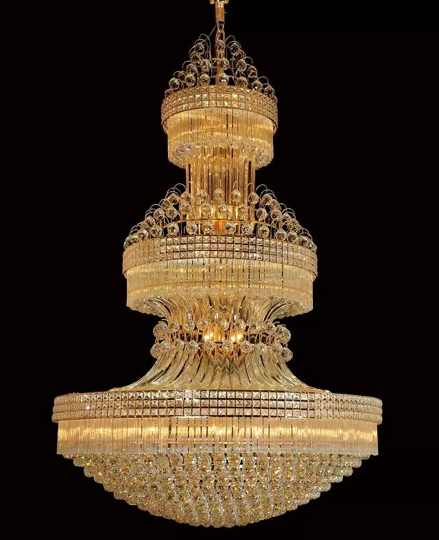 Gold Crystal Chandelier Lights Fixture American Modern Chandeliers LED Lamps Home Indoor Lighting Long Hanging Light AC90V 260V in Chandeliers from Lights Lighting