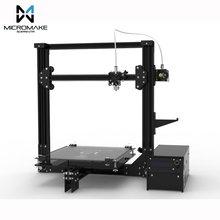 2017 Micromake 3D Imprimante Grande Taille D'impression 245*245*260mm Micromake C1 Tôle/Arcylic H-botXZ Structure DIY Kit