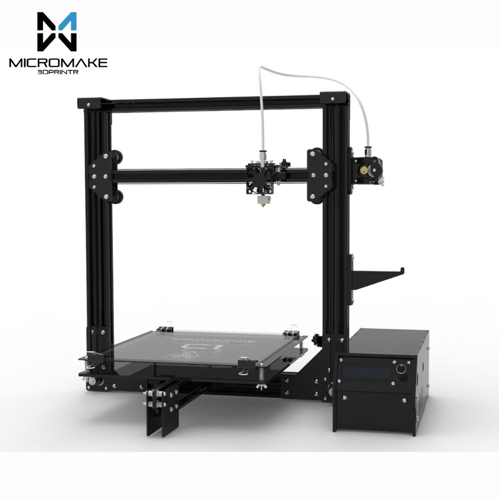 2017 Micromake 3D Printer Micromake C1 Metal Sheet Arcylic H botXZ Structure Large Printing Size 245