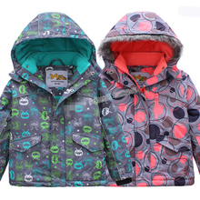 цена на Outdoor wind and waterproof jacket boys and girls children of foreign trade of the original single ski padded jacket